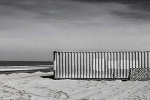Container op het strand