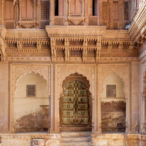 Deur in het Fort van Jodhpur van