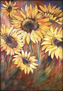 sunflowers ( zonnebloemen) van Els Fonteine