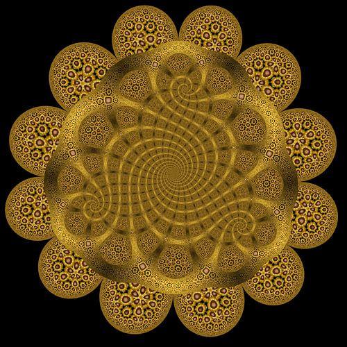 Trio Spiraal van Zonnebloemen II