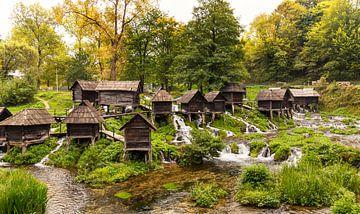 Kleine Watermolens in Bosnië en Herzegovina van Adelheid Smitt