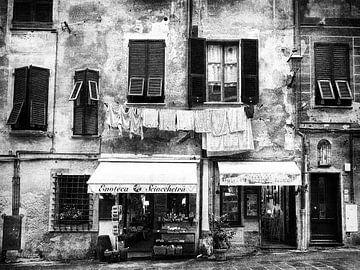 Oude voorgevel huis Italië