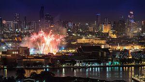 Fireworks over Bangkok van