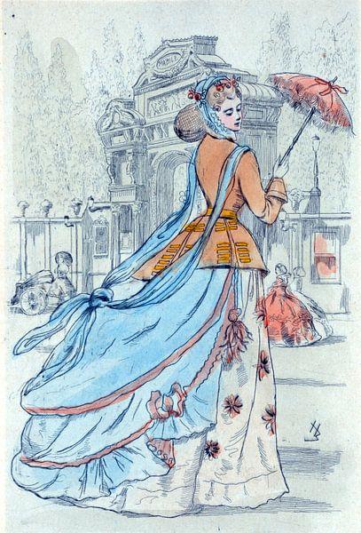 Mode 1868, Mode in het negentiende-eeuwse Parijs, Henri Boutet, (1851 1919) van Liszt Collection