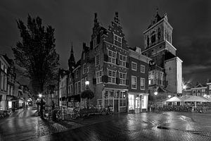 De Kaerskorf te Delft zwart / wit van Anton de Zeeuw