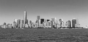 Manhattan Skyline, zwart/wit