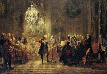 Frédéric le Grand jouant de la flûte à Sanssouci, Adolph Menzel sur