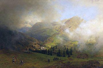 Blick auf die Rigi, OSWALD ACHENBACH, Um 1864-1865 von Atelier Liesjes