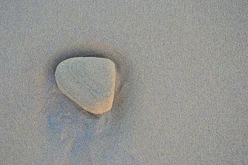 Steen op het strand van Dustin Musch