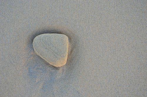 Steen op het strand van