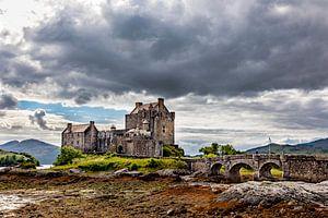 Eilean Donan in de Wolken van