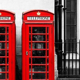 Britse telefooncel van Mark de Weger