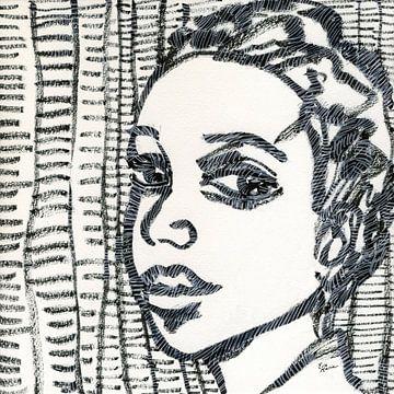 Der Ausdruck einer Frau von ART Eva Maria