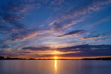 Sonnenuntergang Nord Aa von Almon Brouwer