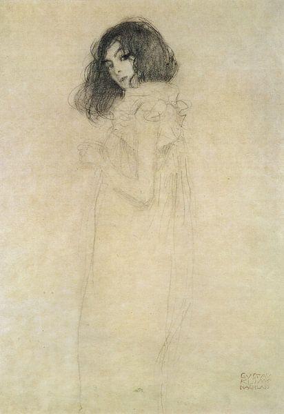 Porträt einer jungen Frau, Gustav Klimt von Bridgeman Masters