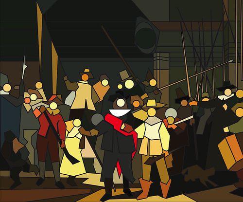 Nachtwacht van Pieter L. Houtekamer