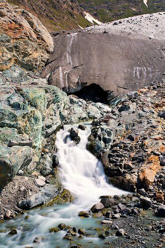 Gletsjer rivier van