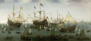 De terugkomst in Amsterdam van de tweede expeditie naar Oost-Indië, Hendrik Cornelisz. Vroom