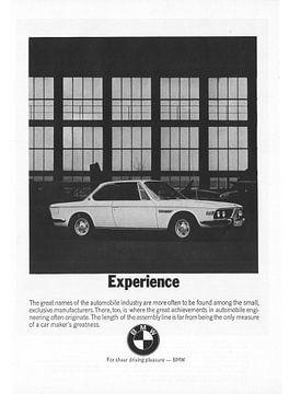 Werbung 1970 BMW 2800 CS von Jaap Ros