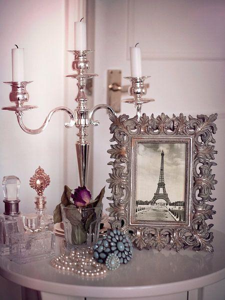 Pastellrosa Vintage Eiffelturm in Fotorahmen von Christine aka stine1