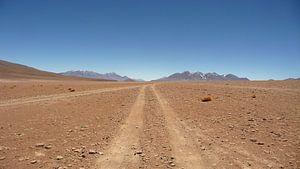 'Weg door woestijn', Bolivia