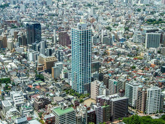 Tokyo met in het midden de Citytower Shinjuku Shintoshin