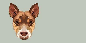 hond herder puppy portret van Anne Dellaert
