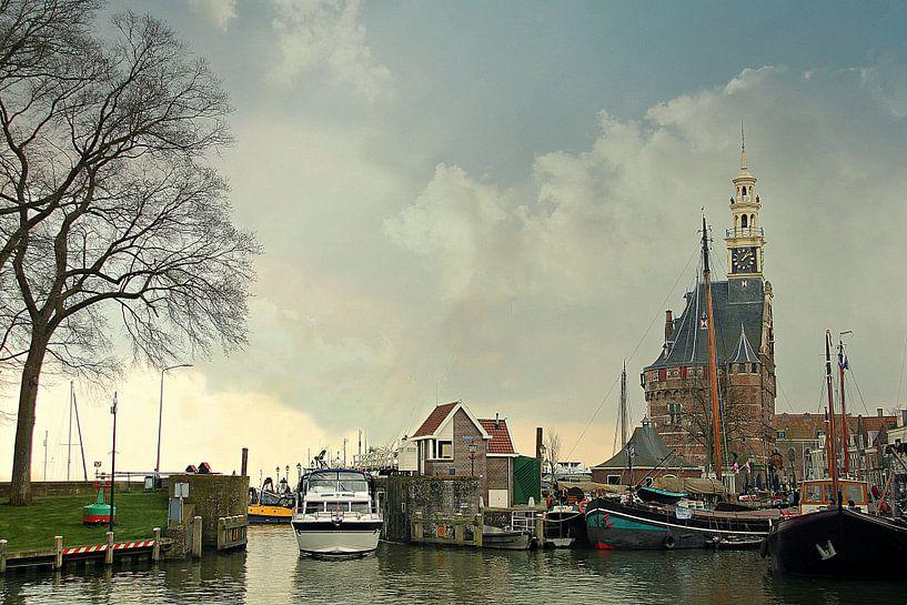 Stadsgezicht op Hoorn van Pauli Langbein