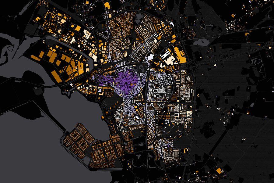 Kaart van Bergen op Zoom