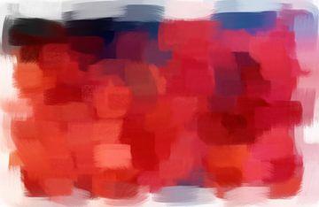 Abstract in rood blauw zwart van Maurice Dawson
