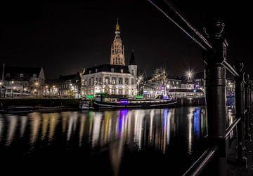Breda bei Nacht - Spanjaardsgat von Ronald Westerbeek