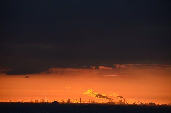Haven van Rotterdam van de verte van Marcel van Duinen