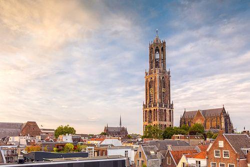 Utrecht - Zonsondergang Domkerk van