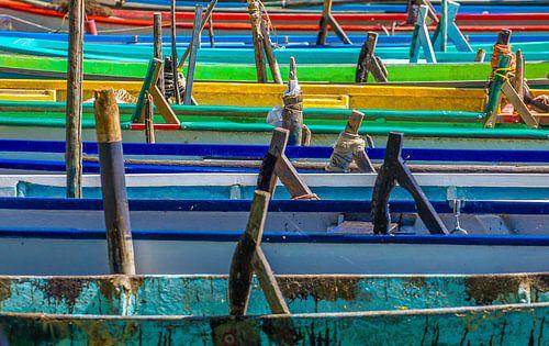 Lago Trasimeno: kleurrijke vissersbootjes van