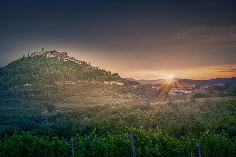 Countryside of  Istria - Croatia van Dennis Donders