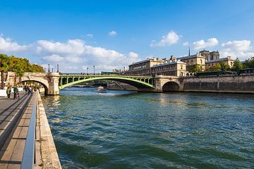 Blick über die Seine auf Paris, Frankreich von Rico Ködder