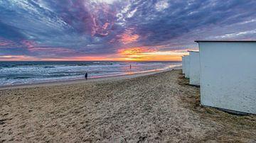 Paal 9 zonsondergang Texel van Texel360Fotografie Richard Heerschap