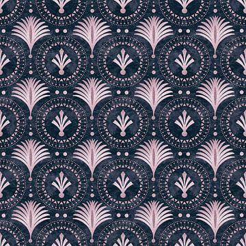 Art Deco Elegance Pink Blue sur Andrea Haase