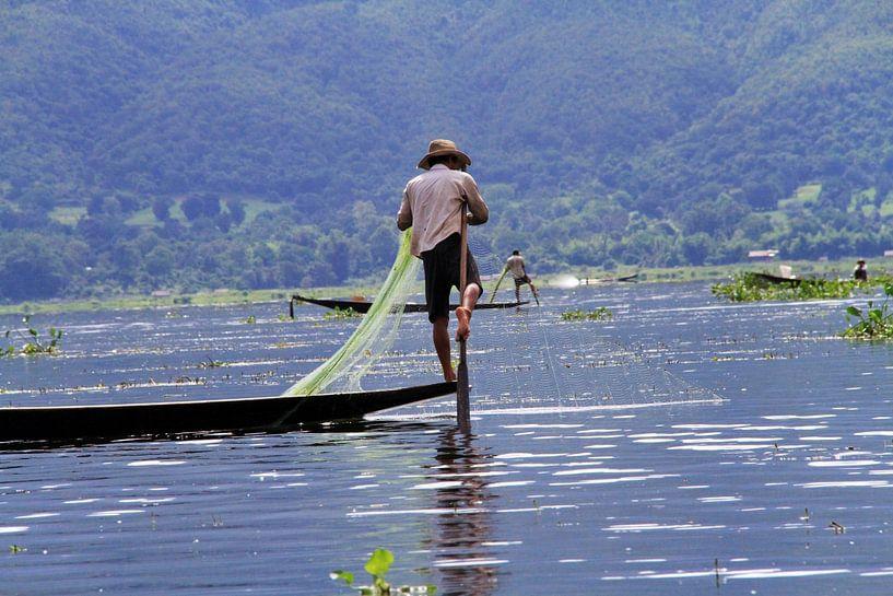 Beenroeier in Myanmar van Gert-Jan Siesling