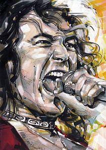 Robert Plant (Led Zeppelin) portret van Jos Hoppenbrouwers