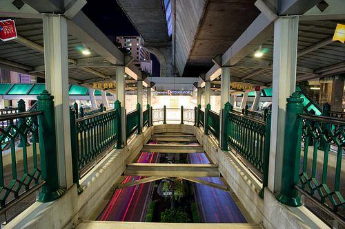 BTS station in Bangkok van