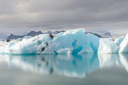 IJsbergen in een gletsjermeer von Sjoerd van der Wal