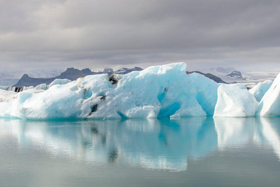 IJsbergen in een gletsjermeer van Sjoerd van der Wal