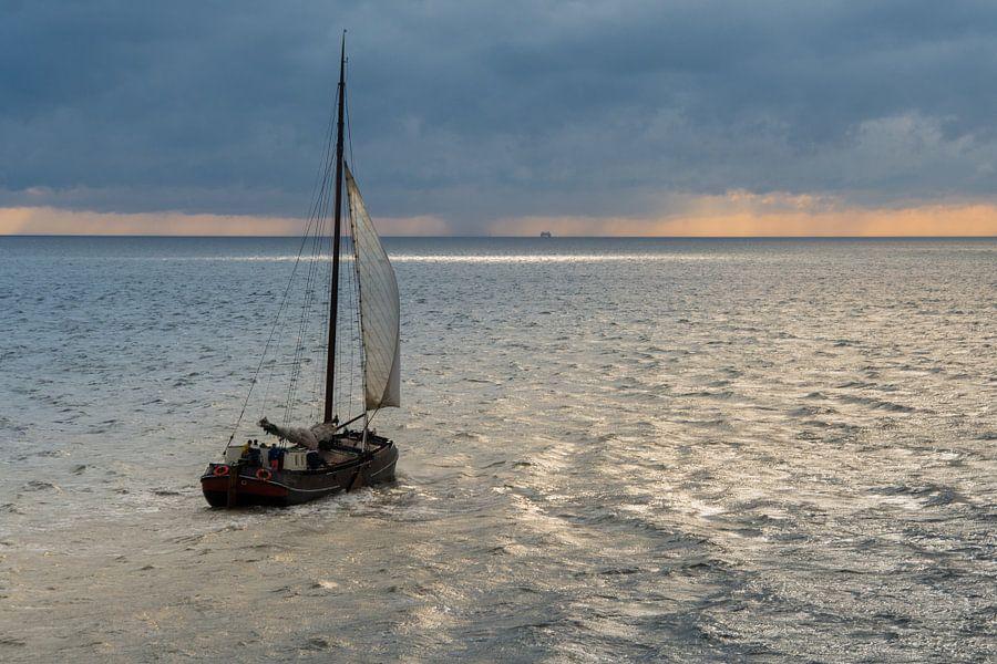 Zeilen op de Waddenzee van Jelmer Jeuring