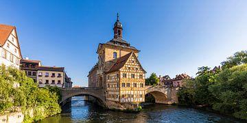 Oud stadhuis in de oude stadskern van Bamberg van Werner Dieterich