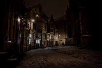 Pittoresk straatje in Gouda van Eus Driessen