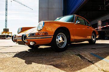 Porsche oranje. van Brian Morgan