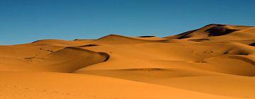 De zandduinen van Erg Chebbi in de Sahara van Dennis Wierenga