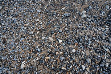Kiezels op het strand van Mickéle Godderis