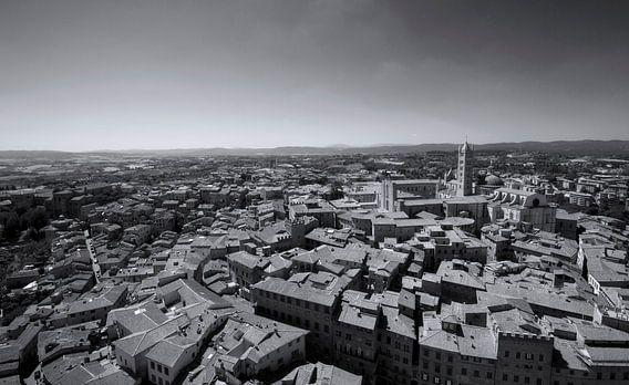 Stads gezicht, kathedraal van siena  - Italie van Marcel Kerdijk